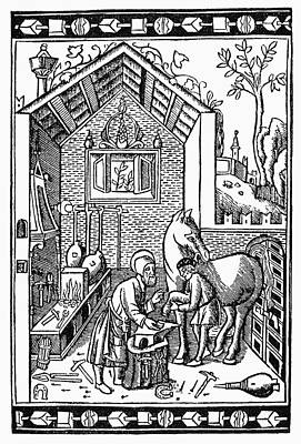 Blacksmith, C1250 Art Print by Granger