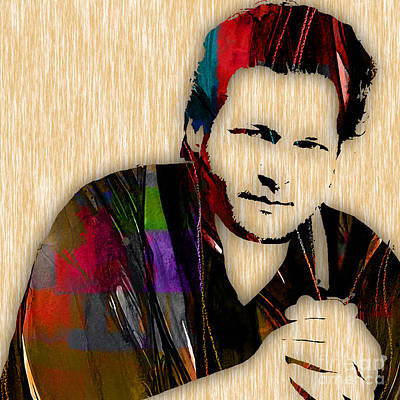 Blake Shelton Collection Art Print by Marvin Blaine
