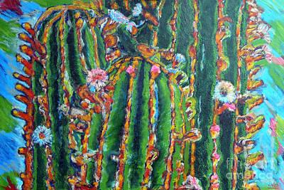 Blooming Cactus Original