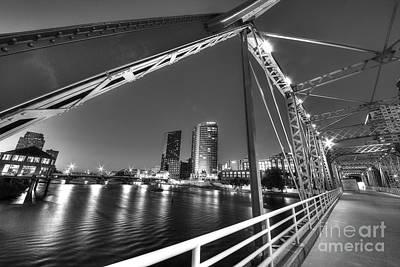 Blue Bridge Art Print by Twenty Two North Photography