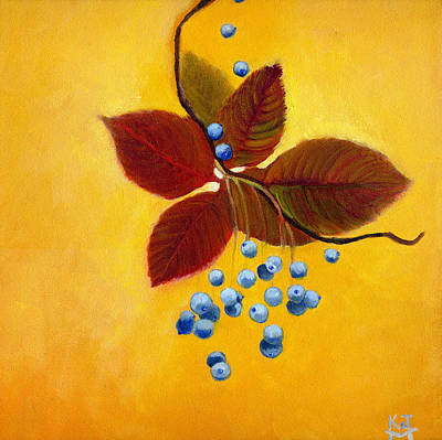 Painting - Blue On Yellow by Katherine Miller