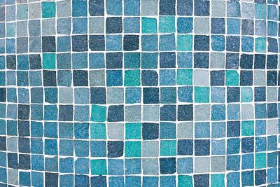 Ceramic Tile Photograph - Blue Tiles by Tom Gowanlock