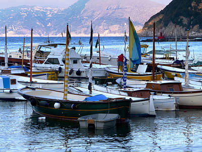 Boats In The Harbor Art Print by Mike Ste Marie