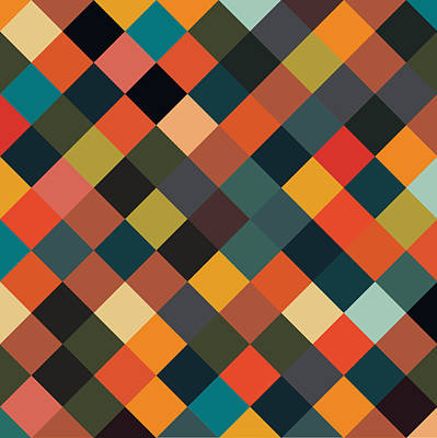 Digital Art - Bold Geometric Print by Mike Taylor