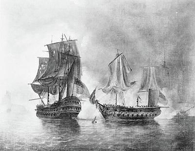 North Sea Painting - Bonhomme Richard, 1779 by Granger