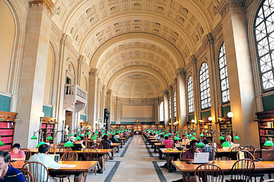 Photograph - Boston Public Library by Songquan Deng
