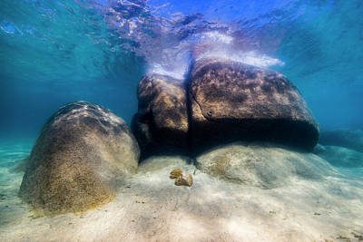 Photograph - Boulders In Lake Tahoe, Nevada by Jennifor Idol