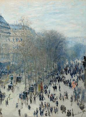 City Scape Painting - Boulevard Des Capucines by Claude Monet