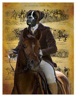 Nobility Dogs Painting - Boxer Art Canvas Print by Sandra Sij