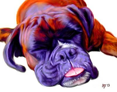 Boxer Dog Digital Art - Boxer Dog Art by Iain McDonald