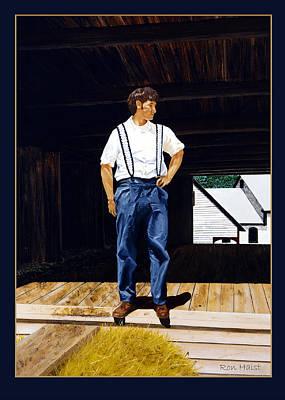 Boy In The Barn Art Print