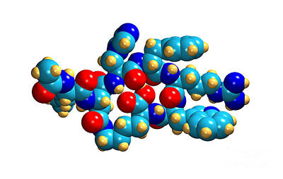 Bremelanotide Drug Molecule Art Print
