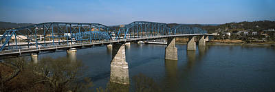 Chattanooga Photograph - Bridge Across A River, Walnut Street by Panoramic Images