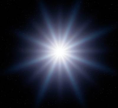 Bright Star In Space Art Print by Detlev Van Ravenswaay