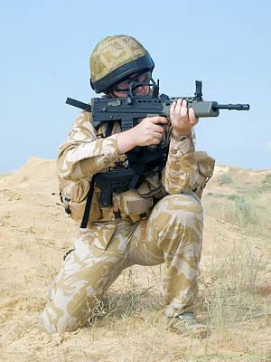 Photograph - British Royal Commando In Action by Oleg Zabielin