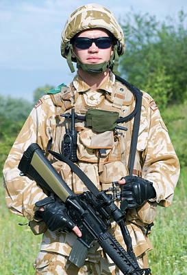 Photograph - British Royal Commando In Desert by Oleg Zabielin