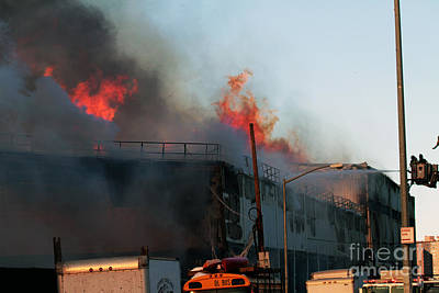 Photograph - Brooklyn 7 Alarm Fire by Steven Spak