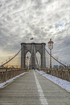 Art Print featuring the photograph Brooklyn Bridge by Jerry Gammon