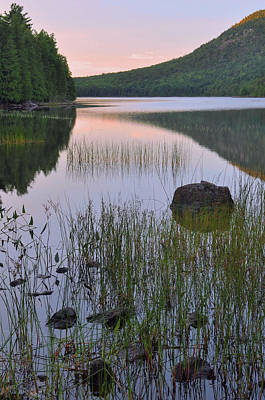 Down East Maine Photograph - Bubble Pond Dawn Reflections by Stephen  Vecchiotti