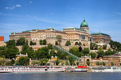 Budapest Hungary Attractions Photograph - Buda Castle In Budapest by Artur Bogacki