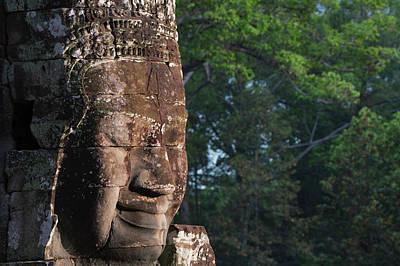 Angkor Thom Photograph - Buddhist Statues At Bayon Temple by Keren Su