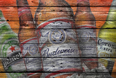 Handcrafted Photograph - Budweiser by Joe Hamilton