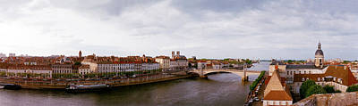 Saone River Photograph - Buildings At The Waterfront by Panoramic Images