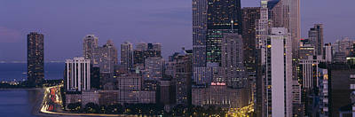 Drake Photograph - Buildings In A City, Chicago, Cook by Panoramic Images