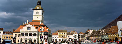 Buildings In A City, Town Center Art Print by Panoramic Images