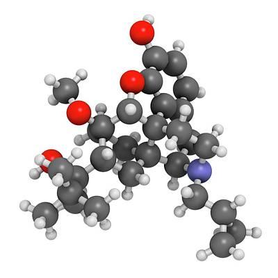 Buprenorphine Opioid Drug Molecule Art Print by Molekuul