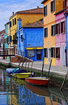 Burano  Italy Art Print by Elaine Walsh