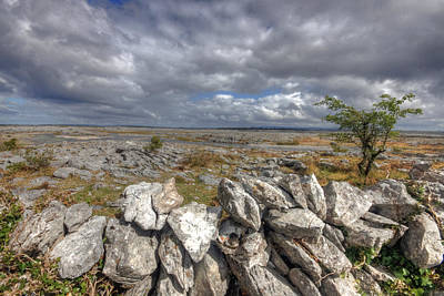 Burren Photograph - Burren Wall by John Quinn