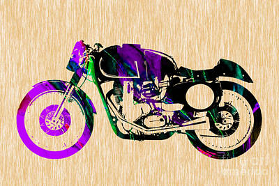 Bike Mixed Media - Cafe Racer by Marvin Blaine