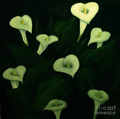 Art Print featuring the painting Calla Lilies by John Stuart Webbstock