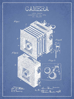Camera Patent Drawing From 1903 Art Print by Aged Pixel