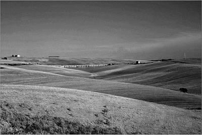 Tarquinia Landscape Campaign With Aqueduct Art Print