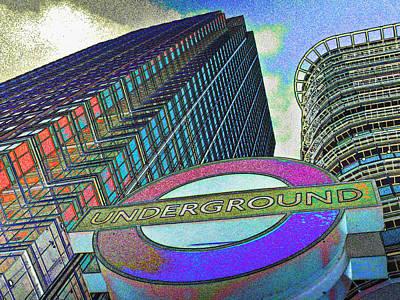 Canary Digital Art - Canary Wharf London Art by David Pyatt