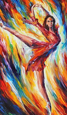 Candle Fire Print by Leonid Afremov