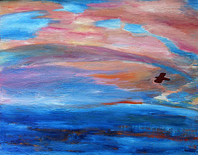 Art Print featuring the painting Cape May Sunset by Vadim Levin
