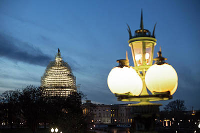 Lights And Lighting Photograph - Capitol Building by Jim West