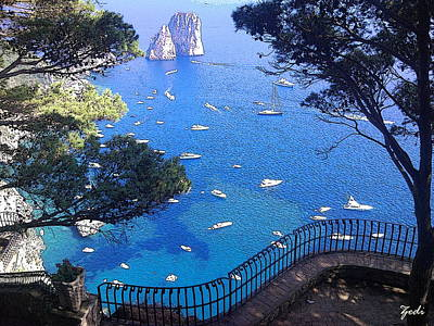 Capri Art Print by Ze  Di