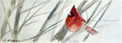 Painting - Cardinal Composed by Erin Rickelton