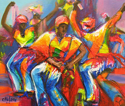 Vivid Colour Painting - Carnival Jump Up by Cynthia McLean
