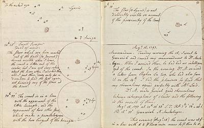 1797 Photograph - Caroline Herschel Comet Discovery by Royal Astronomical Society