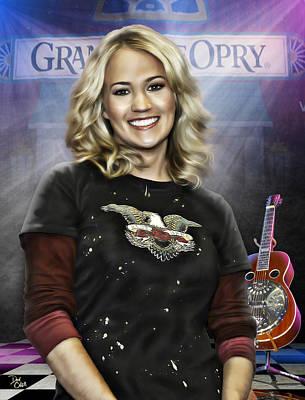 Grand Ole Opry Digital Art - Carrie Underwood by Don Olea