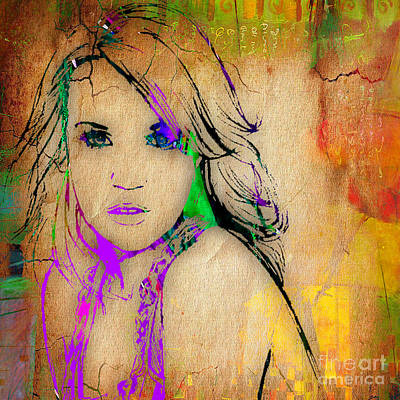 Carrie Underwood Painting. Art Print