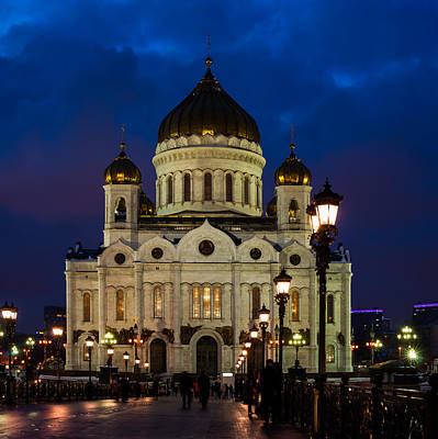 Tryptich Photograph - Cathedral Of Christ The Savior Of Moscow - Russia - Featured 3 by Alexander Senin