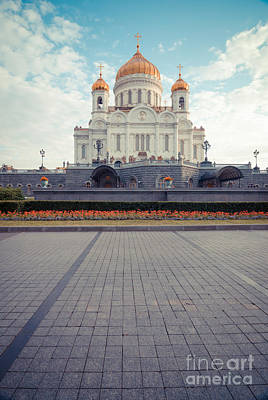Leaden Sky Photograph - Cathedral Of Christ The Saviour by Nikita Buida