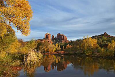 Photograph - Cathedral Rock by Byron Jorjorian