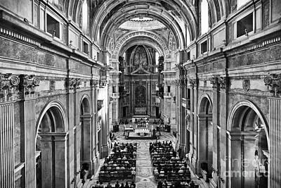 Monastery Photograph - Catholic Mass by Jose Elias - Sofia Pereira